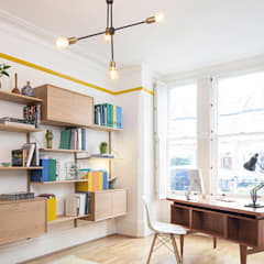 eclectic Study/office by YAM Studios