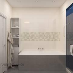 Интерьер трехкомнатной квартиры в современном стиле, ЖК «наб. реки Карповки,10»: Ванные комнаты в . Автор – Студия Павла Полынова