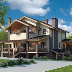 Сиера_530 кв.м.: Дома в . Автор – Vesco Construction,