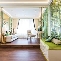 ЗОЛОТЫЕ ДЖУНГЛИ: Гостиная в . Автор – Tony House Interior Design & Decoration