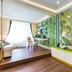 ЗОЛОТЫЕ ДЖУНГЛИ: Гостиная в . Автор – Tony House Interior Design & Decoration,