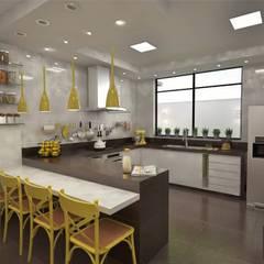 Cozinha MA: Cocinas de estilo  por Ao Cubo Arquitetura e Interiores