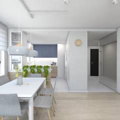 Projekt mieszkania 3: styl , w kategorii Jadalnia zaprojektowany przez BAGUA Pracownia Architektury Wnętrz