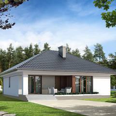 Wizualizacja projektu domu Umbra: styl nowoczesne, w kategorii Domy zaprojektowany przez Biuro Projektów MTM Styl - domywstylu.pl