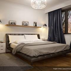 UMBRA Nowoczesna sypialnia od Biuro Projektów MTM Styl - domywstylu.pl Nowoczesny