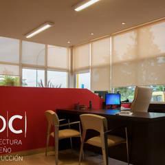 REMODELACION INTERIORES + EQUIPAMIENTO A MEDIDA: EMPRESA SECCO - ALISOS: Estudios y oficinas de estilo  por ADC - ARQUITECTURA - DISEÑO- CONSTRUCCION