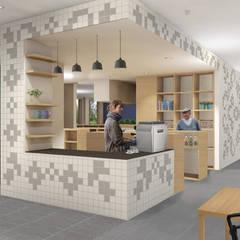 Koffiebar woonzorgcentrum de Veldstraat:  Gastronomie door INZIGHT architecture