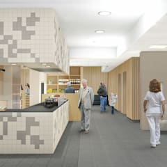 Keuken en restaurant de Veldstraat:  Gastronomie door INZIGHT architecture
