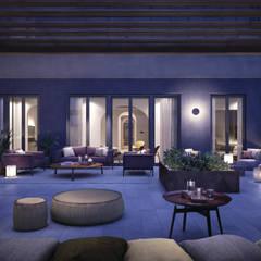 APARTAMENTO CALLE PARÍS-BARCELONA: Terrazas de estilo  de LUV-Architecture & Design