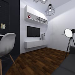 Mieszkanie na Pradze | Warszawa | pokój dzienny: styl , w kategorii Domowe biuro i gabinet zaprojektowany przez Comfytura Studio
