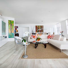 Casa de playa Ancon: Salas / recibidores de estilo  por Carughi Studio