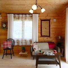 北欧カントリーのログハウス: ヤマミチが手掛けたオフィススペース&店です。