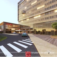 HOTEL LOBBY: Centros de congressos  por STUDIO LUIZ VENEZIANO