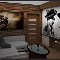 Media room by Biuro projektowe Cztery Ściany Martyna Bejtka