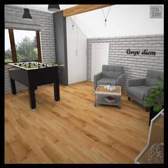 Projekt domu jednorodzinnego: styl , w kategorii Pokój multimedialny zaprojektowany przez Biuro projektowe Cztery Ściany Martyna Bejtka