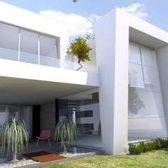 Casas de estilo  de AParquitectos, Moderno Vidrio