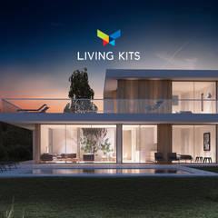 Casa Zen: Casas de estilo  de Casas Modernas | LIVING KITS