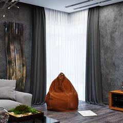 Гранит и дерево в гостиной: Гостиная в . Автор – Студия дизайна Interior Design IDEAS