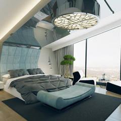 Nuevo Tasarım – Ankara Villa Projesi:  tarz Yatak Odası,