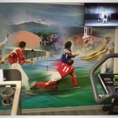 Une salle de sport complète dans une cave: Salle de sport de style de style Moderne par Athletica Design