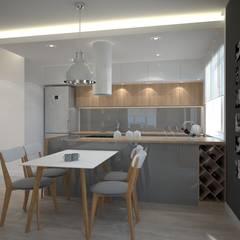 Mieszkanie na Mokowie: styl , w kategorii Kuchnia zaprojektowany przez ZAWICKA-ID Projektowanie wnętrz,
