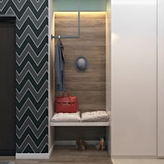 Визуализация современной квартиры-студии: Коридор и прихожая в . Автор – студия визуализации и дизайна интерьера '3dm2'