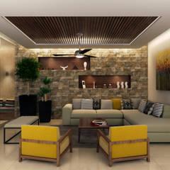 Residencia MR : Salas de estilo  por Interiorisarte