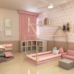 Recamara de niña: Recámaras infantiles de estilo moderno por Interiorisarte