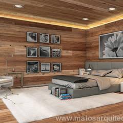 House by River side: Quartos  por Matos Architects,
