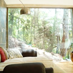 Loft Manatí, Vista Interior.: Recámaras de estilo  por T+E ARQUITECTOS