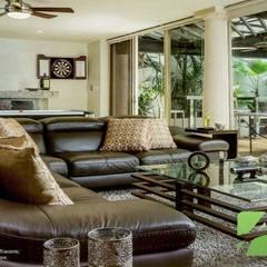 Living room by AIDA TRACONIS ARQUITECTOS EN MERIDA YUCATAN MEXICO, Modern Copper/Bronze/Brass