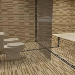 Interiores de Vivienda Acosta: Baños de estilo  por Arq. Jose F. Correa Correa