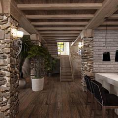Домик в горах: Столовые комнаты в . Автор – Студия дизайна Натали Хованской