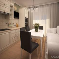 مطبخ تنفيذ Alfia Ilkiv Interior Designer