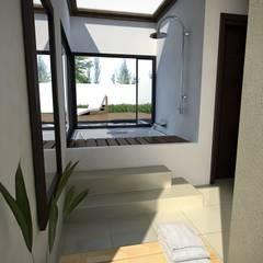 spa/piscina MM: Jardines de invierno de estilo  por laura zilinski arquitecta