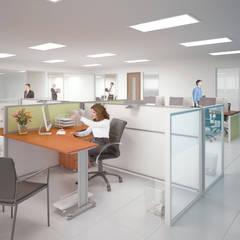 Remodelación corporativo: Estudios y oficinas de estilo  por Ingenieros y Arquitectos Continentes