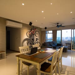 BTO @ Punggolin Hotel Style:  Dining room by Designer House