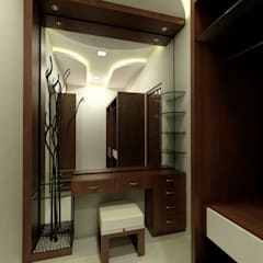 Dressing room by Shadab Anwari & Associates.