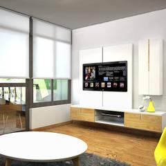 CERRO AZUL: Salas de estilo escandinavo por Kuro Design Studio