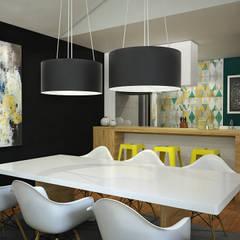 CERRO AZUL: Comedores de estilo  por Kuro Design Studio