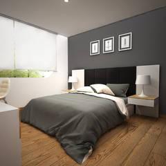 CERRO AZUL: Dormitorios de estilo  por Kuro Design Studio