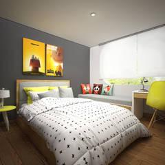 CERRO AZUL: Dormitorios infantiles de estilo  por Kuro Design Studio