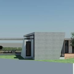 Western Hill House: DDS 건축디자인의  복도 & 현관