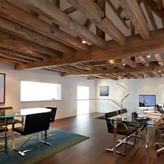 Mill House:  Study/office by Ayre Chamberlain Gaunt