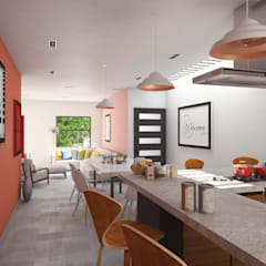 Casa Centenario: Cocinas de estilo  por Laboratorio Mexicano de Arquitectura