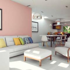 غرفة المعيشة تنفيذ Laboratorio Mexicano de Arquitectura
