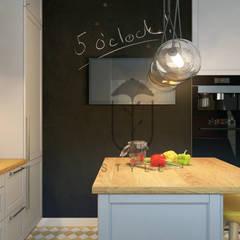 кухня-остров в стиле минимализм YOUSUPOVA Кухня в стиле минимализм