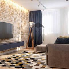 اتاق نشیمن توسطU-Style design studio