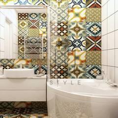 Лофт и минимализм в интерьере Ванная в средиземноморском стиле от U-Style design studio Средиземноморский