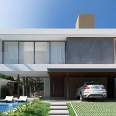 Casa C: Casas minimalistas por Martins Lucena Arquitetos